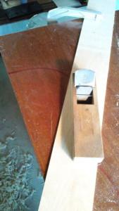 横板の削り